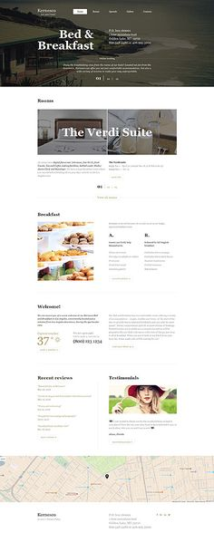 Bed & Breakfast website inspirations at your coffee break? Browse for more Bootstrap #templates! // Regular price: $75 // Sources available: .HTML,  .PSD #Travel #HOTEL #Bootstrap