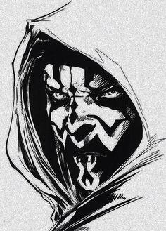 Free Darth Maul Face Stencil