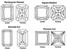 "The Radiant vs Princess Cut Diamond like both ""crown"" versions"