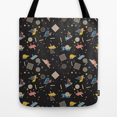 Memphis Inspired Pattern 10 Tote Bag by Season of Victory - $22.00 design