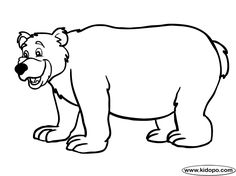 Free Bear printable and online coloring page Preschool Letter B, Lacing Cards, Bear Coloring Pages, Online Coloring, Plastic Canvas, Mittens, Kid Stuff, Bears, Applique