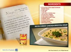 Ricos Cheesy Chicken Broccoli Soup