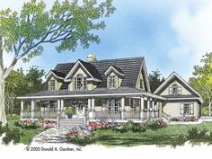 Eplans Farmhouse House Plan - Azalea Crossing - 2482 Square Feet and 4 Bedrooms(s) from Eplans - House Plan Code HWEPL06895