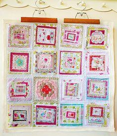 layered differing quilt blocks - ahhhh