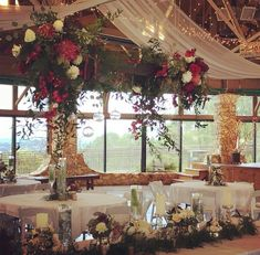 Beautiful! Venue is Events at Green Mountain Farm and flowers are by An English Flower Cottage, both located in Hendersonville, NC Green Mountain