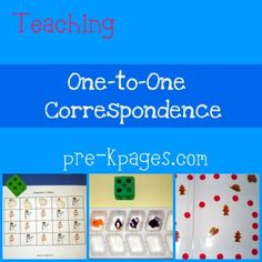 Great site for teaching one to one correspondence skills in pre-k