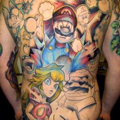 Video game tattoo 1