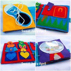 READYMADE Felt Quiet Activity Book for Babies by SweetJuicyApril