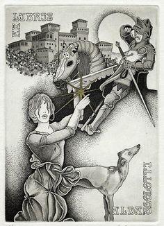 Ex libris by Paolo Rovegno