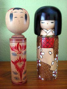 Kokeshi: one traditional, one creative.