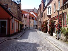 Cobbled Street in University town of Lund. Life Of Walter Mitty, Cities In Europe, Lund, Beautiful Sky, Secret Life, Places Ive Been, Sweden, Paths, Cool Photos