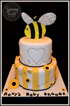 Bees Baby Shower Cake!