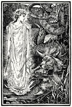 Prince Darling transformed into the monster. Henry Justice Ford, from Prince Darling and other stories, by Andrew Lang, 1930