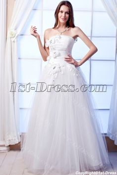 Romantic Quinceanera Dresses Miami with Flowers:1st-dress.com