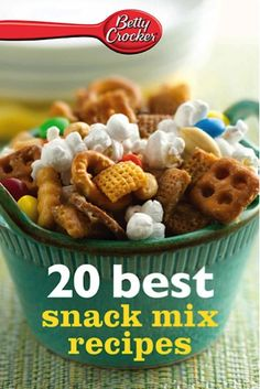 Bargain e-Cookbook: Betty Crocker 20 Best Snack Mix Recipes {$1.99}  ~ be prepared for your next snack attack! :) #snacks