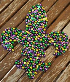 Mardi Gras Bead Fleur De Lis by ARTbyKVB on Etsy, $45.00 - NOLA new orleans