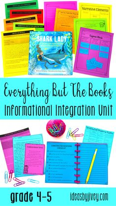 Everything But The Books Informational Integration Unit for 4th and 5th grade provides you with complete writing, reading, and mentor sentence lesson plans - you'll get the standards-aligned integrated lesson plans, activities, checklists, rubrics, additional readings, outlines, constructed response prompts, and text-based informational writing prompts; and all you need to get your hands on are the mentor texts! #mentortexts #4thgrade #5thgrade