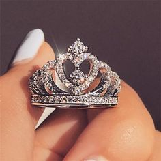 Anillo corona de mujer