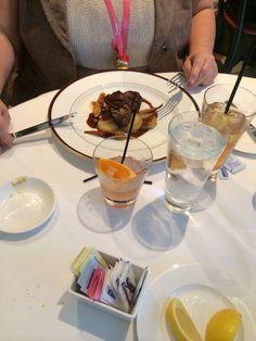 "Brennan's Restaurant lunch in New Orleans. ""Filet"""