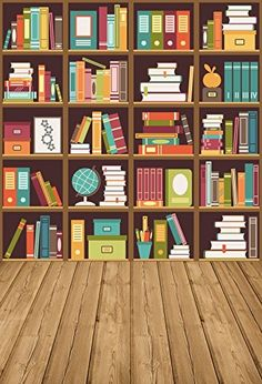 study backdrop library bookcase wood floor interior bookshelf studio students bookshelves yeele books booth floors backdrops