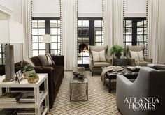 greige: interior design ideas and inspiration for the transitional home : greige mountain retreat. Whole house is beautifully designed My Living Room, Home And Living, Living Area, Living Room Decor, Living Spaces, Design Salon, Design Studio, House Design, Design Hotel