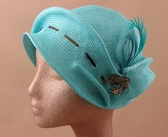 Anita Torquoise Cloche sold by SarahsHats