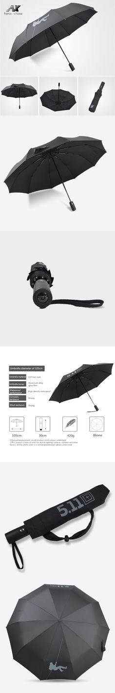 NX Golf Double Layer Windproof Umbrella Three Folding 125cm parasol male Commercial Automatic business umbrella free shipping