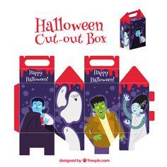 Scatolina di Halloween da stampare e costruire n.1