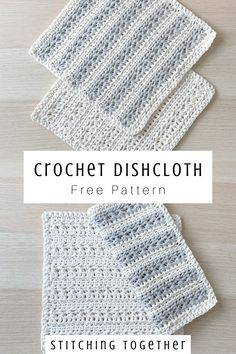 A textured crochet dishcloth that is as beautiful and it is functional. Use this free pattern to make a stack of dishcloths for yourself and your friends. Crochet Sloth, Crochet Humor, Crochet Bunny, Cute Crochet, Crochet Lace, Easter Crochet Patterns, Crochet Dishcloths Free Patterns, Dishcloth Crochet, Easy Crochet Stitches