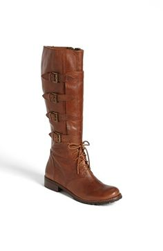 Beautiful leather kick ass, buckle boots. Low heel. $250 Matisse 'Battle' Boot available at #Nordstrom