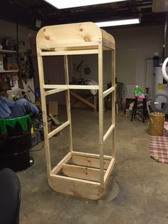 I finally got around to building the cabinet for my Zombie Containment Unit. So far I have the frame done with the monitors, electronics, pneumatics and air cannon installed. I still have a long way to go putting the skin on the box, installing speakers, fog, lights, etc. Below are a few pictures of the progress so far. All comments are welcome!! Video is coming soon.