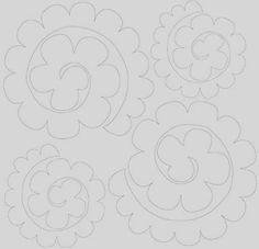 molde das flores de feltro