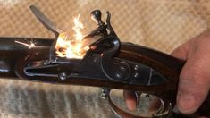 The moment my flintlock rifle is igniting