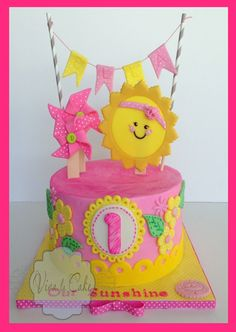 You are my Sunshine cake kit and topper summer by vivalacakeshop, $55.00