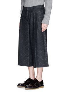 Mcq By Alexander Mcqueen Wide Leg Cropped Jacquard Pants in Blue for Men