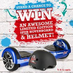 Stand a chance to win a limited edition Spur hoverboard and helmet!