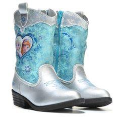 FROZEN Frozen Fantasy Cowboy Boot Toddler/Preschool Silver/Blue