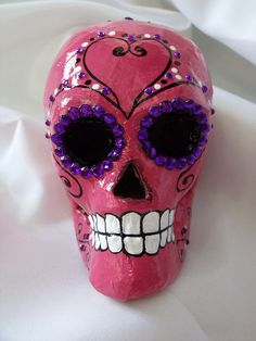 papier mache skull. is that a lightbulb?