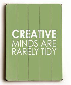 Another great find on #zulily! 'Creative Minds' Wood Wall Art #zulilyfinds