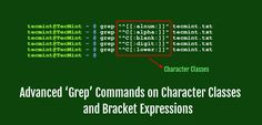 In this article I will be going to explain advanced commands on grep for the Character Classes and Bracket Expressions in Linux /Unix like operating system. Linux, Periodic Table, Character, Periotic Table, Linux Kernel