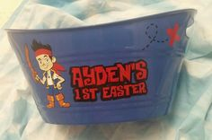 Jake and The Neverland Pirates Easter Bucket Using Oracle Vinyl and Silhouette Cameo $12 www.facebook.com/facebook.com/thequeenbeechic