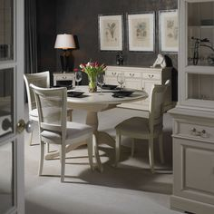 Modern French style dining room. http://www.worldstores.co.uk/p/Country_House_Nest_of_Tables.htm