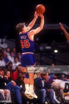 Mark Price Basketball | Mark Price #25 of the Cleveland Cavaliers takes a jump shot during a ...