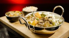 Oxtail Stew with Pickled Onion Mash and Eggplant Kasundi Truffle Mushroom, Oxtail Stew, My Kitchen Rules, Pickled Onions, Curry Leaves, Eggplant, Real Food Recipes, Potato Salad, Dishes