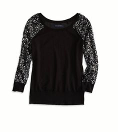 sequin sleeve sweater- I want this everytime I see it pinned on here. I should probably find it and buy it! lol! <3