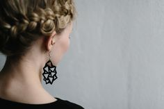 Earrings by NOUSEVA MYRSKY.  #ecological #earrings #madeinfinland #nousevamyrsky #weecos  www.weecos.com/fi/stores/nouseva-myrsky Finland, Bling, Drop Earrings, Winter, How To Make, Inspiration, Jewelry, Design, Style