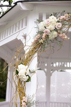 Alta Vista Country Club, Orange County Weddings, Gazebo Ceremony, Blush Wedding Photo from Rangel Wedding collection by Meghan Wiesman Photography