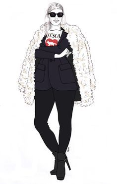 Plus size Fashion Illustrations | http://www.accrodelamode.com/index.php?category/ODE-AUX-GROS-DERRIERES