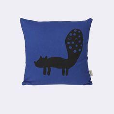 Fox Cushion - Blue