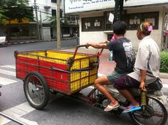 what comes first, bicycle or cart? Adventures in Thailand :)